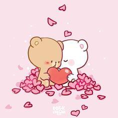 Milk and Mocha Bears Wallpapers - Top Free Milk and Mocha Bears Backgrounds - WallpaperAccess Cute Bear Drawings, Cute Kawaii Drawings, Cute Couple Drawings, Cartoon Drawings, Wallpaper Free, Bear Wallpaper, Kawaii Wallpaper, Mobile Wallpaper, Cute Cartoon Images