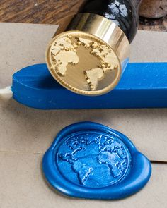 This blue marble we call home, the world, our Earth. This planet is the only home we have, so seal your letters, wedding invites or dissertation on environmentalism with shimmery blue sealing wax and