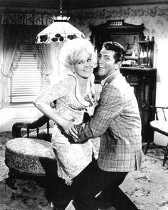 KISS ME, STUPID - Dean Martin as 'Dino' &  Kim Novak as 'Polly the Pistol' - Directed by Billy Wilder - United Artists - Publicity Still.