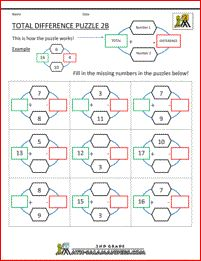 math worksheet : tree adding puzzle 1  use your addition skills to find the  : Addition Puzzle Worksheets
