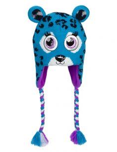 Critter Knit Cheetah Earflap Hat