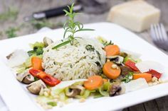 Best Pasta Recipes, Fast Dinner Recipes, Meat Recipes, Healthy Recipes, Crockpot Recipes, Tasty Meals, Rice Recipes, How To Make Risotto, Romantic Meals