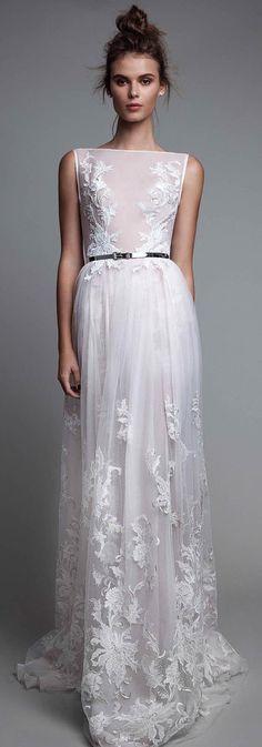 Affordable Straight Neck Off White Tulle Applique Long Prom Dresses, WG1032 #promdress #prom #longpromdress