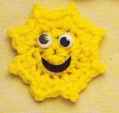 Crochet Sun Magnet Pattern