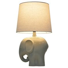 Elephant table lamp from Target Pillowfort