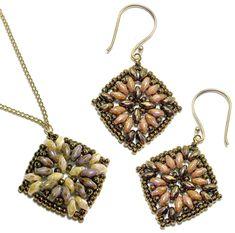 Maya Earrings and Pendant,  Deb Roberti, AroundTheBeadingTable.com
