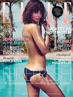 Helena Christensen - Elle Norway Magazine Cover [July 2013]
