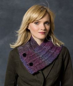 Free knitting pattern for Button Up Neck Warmer and more neck warmer knitting patterns