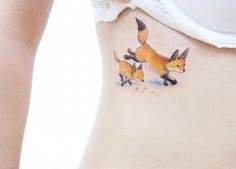 Fox tattoos by Banul