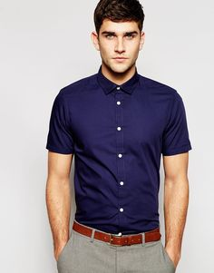 ASOS+Smart+Shirt+In+Short+Sleeve