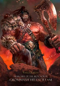 World of Warcraft Warcraft Dota, Warcraft Heroes, Art Warcraft, World Of Warcraft Game, Warcraft Movie, Warcraft Characters, Fantasy Characters, Orc Warrior, Fantasy Warrior