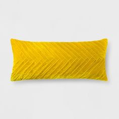 Create your own unique eclectic style in any living space in your home by adding this Pleated Velvet Oversized Lumbar Pillow from Opalhouse™ as an accent. This decorative throw pillow features a dynamic pleated design on the front that creates movement and texture. Made with a velvet-like material to give it a soft feel and a unique color, this velvet accent pillow can help you create eclectic style in any room. <br><br>This is your house. Where you create spaces as bold ...