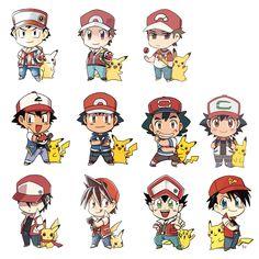 (Almost) every Red Pokemon 20, Pokemon Games, Pokemon Human Characters, Pokemon Special, Bulbasaur, Pokemon Pictures, Anime Chibi, Bowser, Pikachu