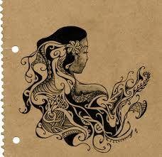 Tahitian waves tattoo