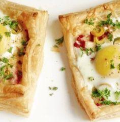 Идеальный завтра для деток: Слойки с яйцом, ветчиной и сыром