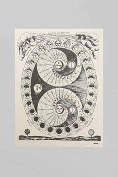 Margins Lunar Calendar Poster - Urban Outfitters