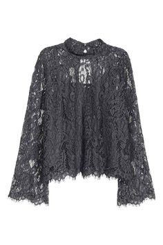 Ideas Crochet Clothes For Women Tunics Lace Tops Sewing Clothes Women, Crochet Clothes, Clothes For Women, Grey Clothes, Shirt Blouses, Collar Blouse, Long Blouse, Fall Dresses, Lace Tops