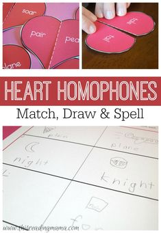 Homophones are a great way to help kids understand that the meaning of words influences the spelling of words. Pick up a FREE Heart Homophones Pack, too! | This Reading Mama