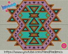 "The location where building and construction meets style, beaded crochet is the act of using beads to decorate crocheted products. ""Crochet"" is derived fro Tapestry Crochet Patterns, Loom Patterns, Cross Stitch Patterns, Crochet Chart, Bead Crochet, Crochet Motif, Wiggly Crochet, Hippie Crochet, Tapestry Bag"