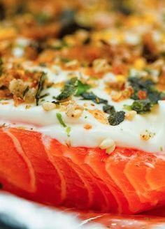FURIKAKE SALMON ~~~ this mayonnaise and furikake salmon bake is a very popular restaurant and home kitchen dish in hawaii. [USA, Hawaii] [kikukat]
