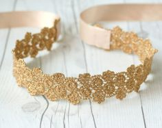 This Bridal Sash Wedding Belt GOLD Sash Bridesmaid Gift Sash Elegant Metallic Lace Flower Pattern Sash Head tie Bridal Shower (Gold) is just one of the custom, handmade pieces you'll find in our belts shops. Wedding Dress Sash, Wedding Belts, Bridal Sash, Gold Wedding, Wedding Jewelry, Bridal Shower, Gold Lace, Metallic Lace, Gold Gold