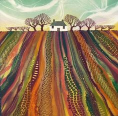 Home Time by Rebecca Vincent (this gives me a great idea for a felted, embroidered AND quilting project!!)