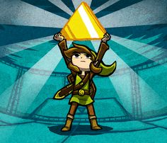 The Legend of Zelda, Link / Triforce Obtained by Bradshavius on deviantART