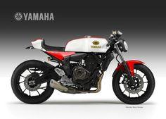 YAMAHA MT-07  Street Racer Concept by Oberdan Bezzi, via Behance