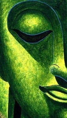 #Green #Buddha.