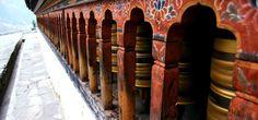 Mesmerising Bhutanese prayer wheels.