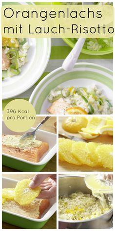 Ein perfektes Familienessen: Orangenlachs mit Lauch-Risotto | http://eatsmarter.de/rezepte/orangenlachs-lauch-risotto