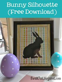 SwellChel: SwellChel Does Easter: Bunny Silhouette with FREE Download