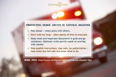 Natural Disaster and Seniors - How to Protect Older Adults During a Natural Disaster