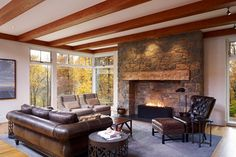 Farmhouse Living Design Ideas, Pictures, Remodel and Decor