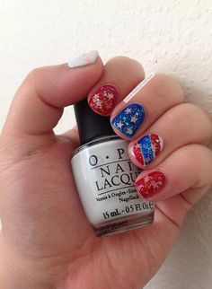 Fierce Makeup and Nails: Twinsie Tuesday: Patriotic Mani
