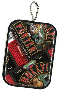 Luggage Tag from Repurposed Boulevard Brewing Bully Porter beer labels by squigglechick, $12.00