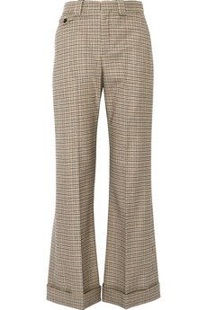 Chloé Houndstooth stretch-wool flared pants | NET-A-PORTER