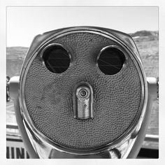 Tourist viewfinder thing. Looks like a face!! by daveaphillips, via Flickr