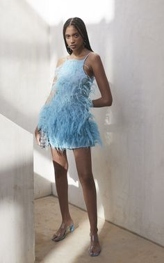 Get inspired and discover Cult Gaia trunkshow! Shop the latest Cult Gaia collection at Moda Operandi. Look Fashion, Fashion Outfits, Fashion Design, Buy Dress, Dress Up, Short Dresses, Prom Dresses, Do It Yourself Fashion, Feather Dress