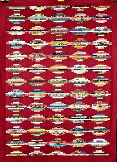 T-Scrap Strata by Linda Rotz Miller Quilts & Quilt Tops, via Flickr