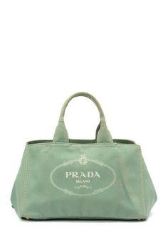 Prada Cotton Canapa Canvas Handbag by Vintage Luxury Handbags on @HauteLook