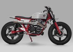 """Honda Scrambler """"Balfour"""" por Thrive Motorcycle - EOLO Motor Co. Honda Dominator, Motos Honda, Honda Motorcycles, Custom Motorcycles, Custom Bikes, Honda Bikes, Custom Cycles, Moto Scrambler, Cb650"""