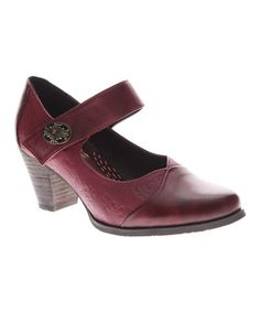 Red Napoleon Leather Mary Jane by L'Artiste by Spring Step