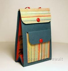 Deena shows us how to make a Mini Backpack Album with her fabulous tutorial