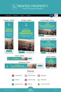 Live demo for Real Estate Property Ad, Property Real Estate, Property Design, Real Estate Rent, Real Estate Banner, Digital Banner, Ad Layout, Outdoor Banners, Ad Design