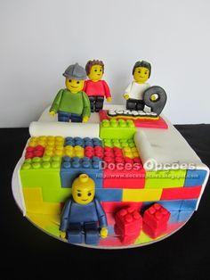 Doces Opções: Bolo Lego para o 9º aniversário do Gonçalo
