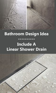 Ensuite for sure. Bathroom Design Idea - Include A Linear Shower Drain Bathroom Drain, Shower Drain, Basement Bathroom, Washroom, Bathroom Faucets, Half Bathroom Remodel, Shower Remodel, Bathroom Remodeling, Remodeling Ideas