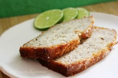 Coconut Banana Bread with a Lime Glaze....sounds so different yet amazing!