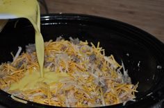 Breakfast casserole in the crock pot!! Cooks while you sleep!