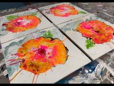 [6]  Fluid acrylic: CELLS every time! Easy DIRTY POUR painting tutorial using Floetrol. - YouTube